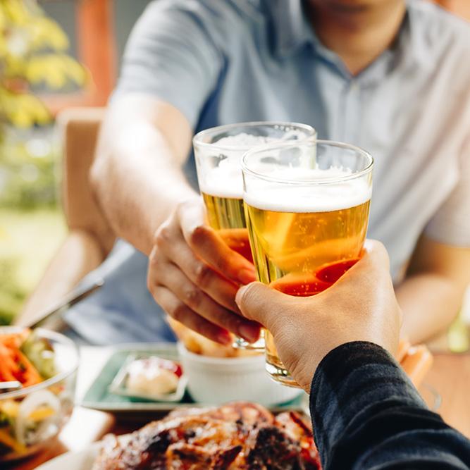 Feiern und genießen im Biergarten